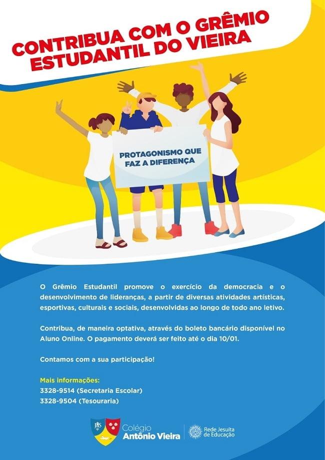 Grêmio Estudantil do Vieira: saiba como contribuir