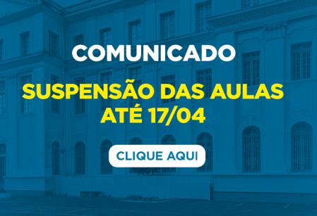 Vieira suspende aulas até 17/04
