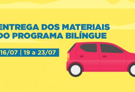 Vieira faz nova entrega dos materiais do Programa Bilíngue para segundo semestre