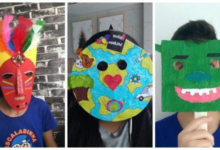 Máscaras representam proteção mas também amor e arte em aulas do Vieira